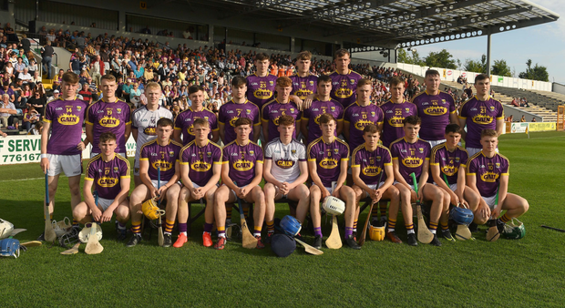 The Wexford squad. Back (from left): Cormac Moore, Jake Firman, Conor Hearne. Middle row (from left): Stephen O'Gorman, Daire Barden, Billy Dunne, Darragh Pepper, Gary Molloy, Aaron Maddock, Brian Quigley, Cathal Dunbar, Michael O'Brien, Joe Coleman, John Doyle. Front (from left): Darren Codd, Darren Byrne, Rowan White, Conor Firman, Darragh Hughes, Joe O'Connor, Harry O'Connor (capt.), Rory O'Connor, Shane Reck, Sam Kelly
