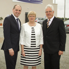 Minister Paul Kehoe T.D., Margaret Doyle (Co. Secretary) and then Co. Chairman Diarmuid Devereux at the official opening of the Ferns Centre of Excellence in October, 2015