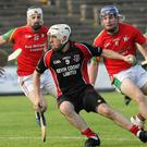Tommy Storey is outnumbered by Rapparees trio Anthony Roche, Richie Farrell and Kevin Foley.