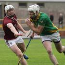 Buffers Alley captain Ciarán Kenny wins this contest with Aaron Maddock of St. Martin's