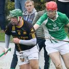 Adamstown's Michael Curtis on the move with Seán Kehoe of Crossabeg- Ballymurn in hot pursuit.