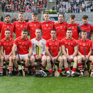 The Fethard squad lining up on a very proud day for the club, a first-ever appearance in Croke Park in an All-Ireland final