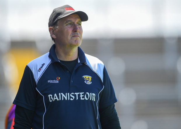 Paul McLoughlin on the sideline during Wexford's All-Ireland qualifier defeat to Waterford