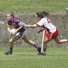 Wexford's Chloe Foxe escaping the clutches of Christiane Hunter,Tyrone