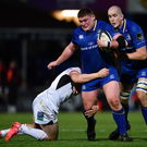 Tadhg Furlong in the thick of things against Ulster on Saturday