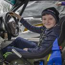 Jack Murray of the Wexford Motorclub Youth Academy behind the wheel