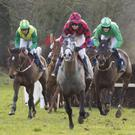 Some of the action at the Wexford Hunt point-to-point in Moorfields, Ballinaboola, on Sunday