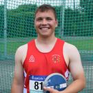 Pádraig Hore of New Ross C.B.S., runner-up in Senior discus and fifth in shot putt.