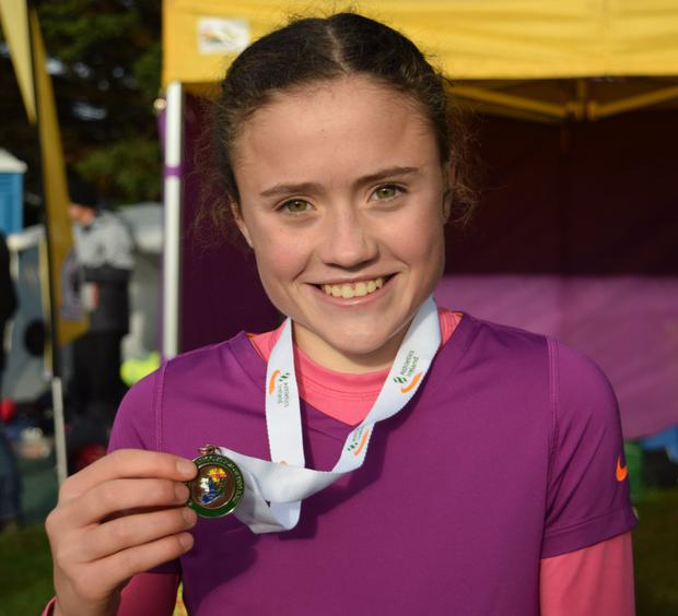 Claragh Keane of D.M.P. with her gold team medal