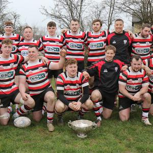 The Enniscorthy squad after the presentation of the Leinster League trophy