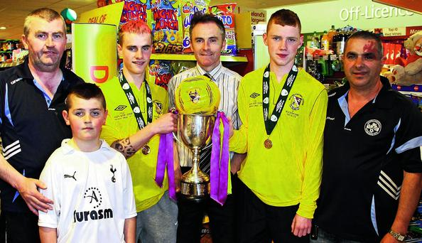 The launch of the Campile United draw in Centra Campile.