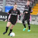 Lauren Dwyer of Wexford Youths Women has time on the ball during the weekend win in Galway