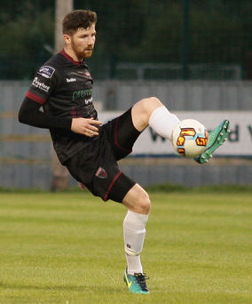 Seán Hurley put in a decent shift at left-back in Friday's defeat
