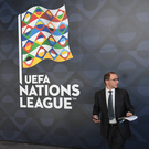 Republic of Ireland manager Martin O'Neill at the UEFA Nations League draw in Lausanne, Switzerland. Photo by Stephen McCarthy/UEFA via Sportsfile