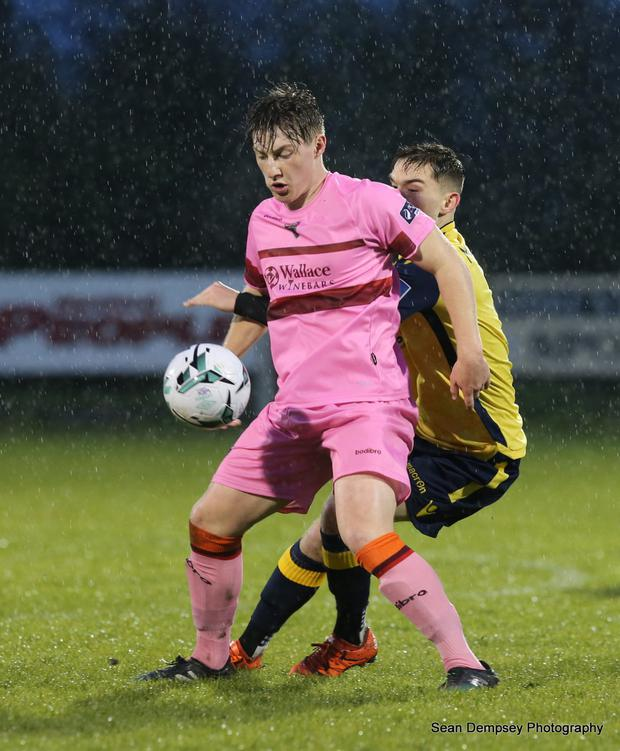 Danny Doyle shielding the ball during Friday's unfortunate defeat to Longford Town