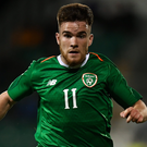 Aaron Connolly in action for the Republic of Ireland Under-21 side
