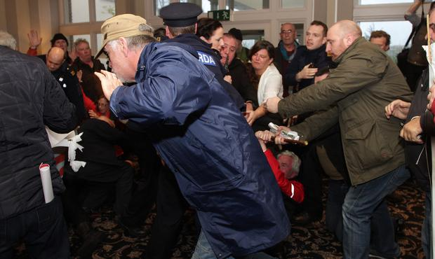 Disturbances at the NAMA Auction in The Ashdown Park Hotel on Thursday afternoon.