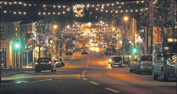 The old Christmas lights in Gorey.