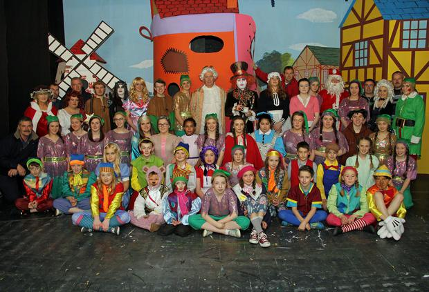 The cast of Rathnure Pantomime Society production of Wish upon a Heart, The Forgotton Princess