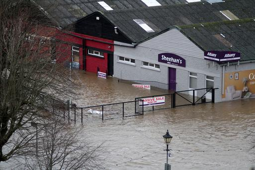 Flooding Enniscorthy on Wednesday morning