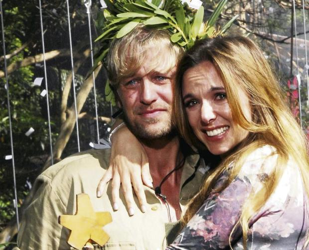 Kian Egan and wife Jodi Albert after winning 'I'm A Celebrity Get Me Out Of Here'. Photo by REX