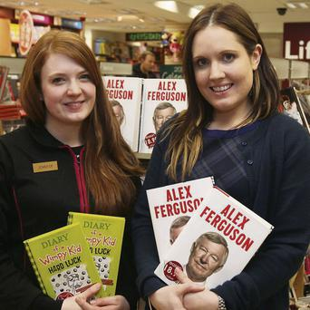 Jennifer Gorman and store manager Deirdre Conway in Eason on O'Connell Street.
