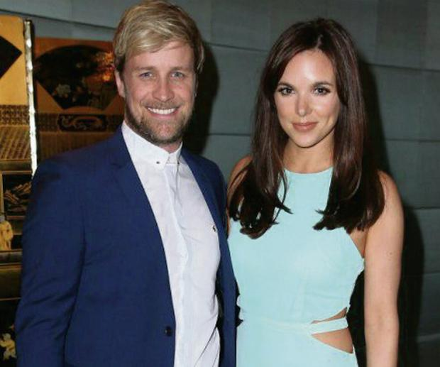 Kian Egan and Jodi Albert at an event in the Dorchester Hotel in London, hosted by Prince Harry.