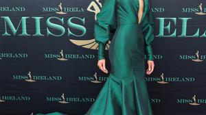 Orla Quinn at the final of Miss Ireland 2021 at The Lakeside Manor Hotel in Cavan . Pic PIP No Repro fee for one use