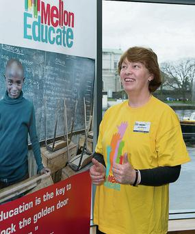 Jean Gallagher, who is going to South Africa with the Niall Mellon trust.