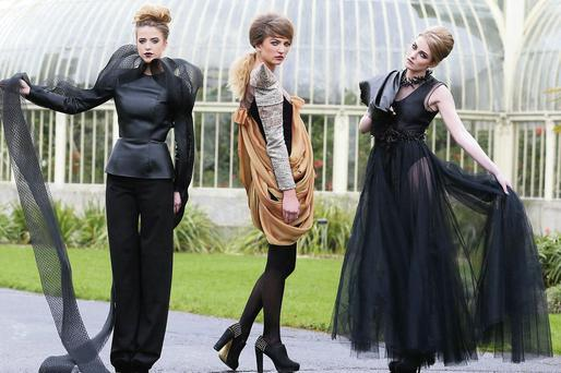 Carraroe's Patricia Carroll's design (left) has been shortlisted for the DIT fashion show awards.