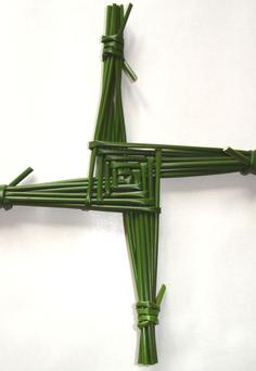 The St. Brigid's Cross is traditionally made from soft-rush