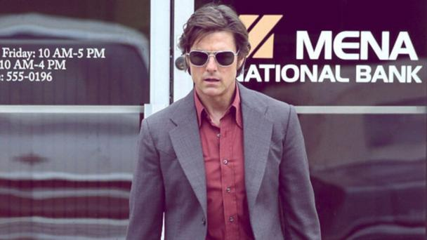 Tom Cruise as corrupt TWA pilot Barry Seal in American Made.