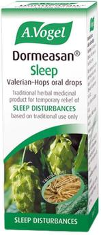 A.Vogel Dormeasan contains valerian, a traditional remedy to help with sleep.