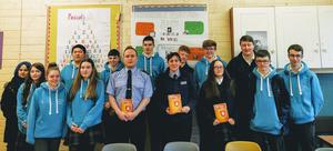 St Mary's College Ballisodare welcomed Garda members Angela and Mark to their TY class and they spoke about life as a Guard and gave an excellent presentation on the harmful effects of Cyber Bullying and advice on how to stay safe online.