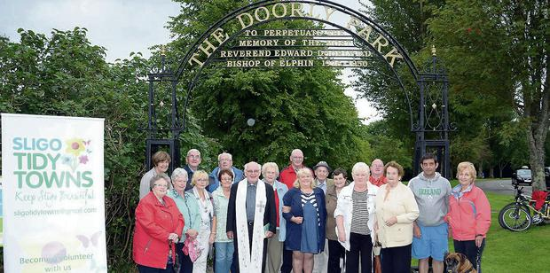 The redication ceremony for the Doorly Park arch, which was part of the 2013 Get Involved project run by Sligo Tidy Towns