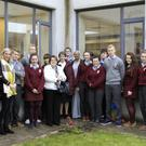 The Jesus and Mary secondary school in Enniscrone recently welcomed Sr Monica (India) and Sr Carmen (Spain), both of whom are of the Jesus and Mary order. They are in the process of visiting all of the order's schools, worldwide, and currently are on the Irish leg of their journey. Pictured here are Sr Monica and Sr Carmen (centre) along with Sr Mary Mulrooney, Ms Kenny, Ms McTiernan and members of the green schools committee