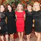 Joanne McTeigue, Anne Walsh, Sharon McGuinness, Collette McDonagh and Sheena Connolly at the Radisson Blu Hotel, Christmas Party night, last Friday