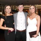 Cara Osborne, Stephen Keenan and Orla Kernan at the St Mary's GAA Club Dinner Dance in the Sligo Park Hotel last Saturday evening