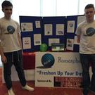 Sean Donnelly and Niall Carden, students of Jesus and Mary Secondary School Enniscrone, who won an award for Social Media with their product 'Romasphere' at the Sligo student enterprise awards recently.