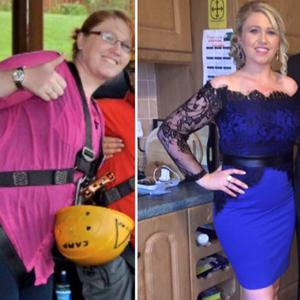 Deirdre Curran before (left) and now (right)
