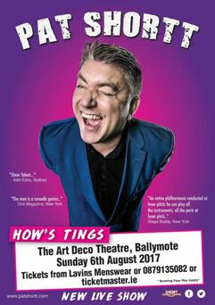 Pat Shortt's 'How's Tings' show comes to Ballymote