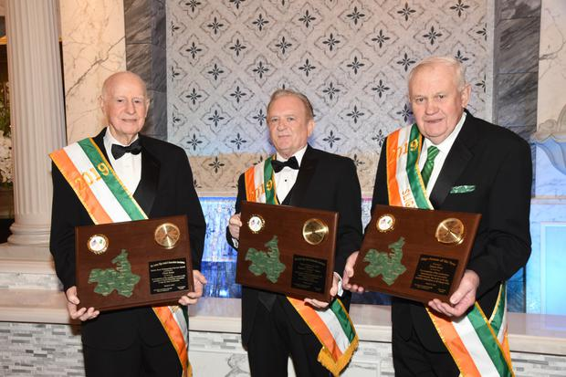 The Sligo Social & Benevolent Association of New York at its annual St. Patrick's Day dinner dance honoured Chris Boles, a native of Geevagh, who received the Martin Brett Distinguished Service Award, Guest of Honor Benny Walsh of Aclare, and Jim Forde of Enniscrone, the association's Sligo Person of the Year