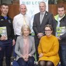 On Monday 25th March, Sligo Local Community Development Committee hosted a reception in Teach Laighne for 61 Community Groups across the West, South and South East of the County who collectively shared in over €120,000 in small scale capital grant aid in a recent scheme known as the Community Enhancement Programme. Groups from Tubbercurry received approximately €15,000. Pictured above: From L-R Back Row: Paul Walsh South Sligo Athletic Club, Jude Mannion Sligo County Council, Ciaran Hayes CEO Sligo County Council, Sean McDonagh Real Tubber FC & South Sligo Community Park. From L-R Front Row: Mairin Haran Sligo LCDC, Louise Kilbane Tubbercurry Development Company