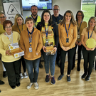 Employees from AbbVie's two plants in Sligo pictured during on-site fundraising events to coincide with Daffodil Day. Volunteers from the company's medical devices centre of excellence in Ballytivnan and from their pharmaceutical plant on the Manorhamilton Road, who all wore yellow on the day, raised more than €1,350 for the Irish Cancer Society