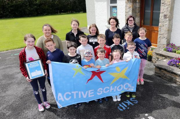 The children of St. Aidan's NS Ballintrillick were awarded the Active School Flag recently. The children worked very hard the last two years making the school more active. You can check out what the children got up to on the school website: www.staidansnsballintrillick.com or on the school's Facebook Page: @staidansnsballintrillick
