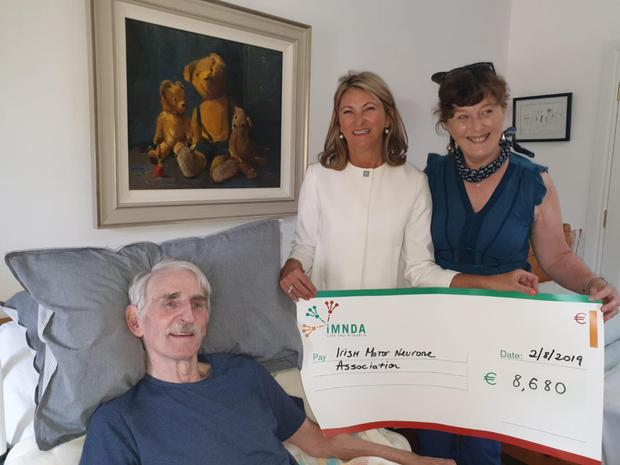 The Loftus family, Castleconnor, present the proceeds of a tea morning to the Irish MotorNeuron Disease Association
