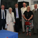 Group pictured atthe recent successful Ballymote Heritage Weekend: Marie Johnson, Judge Keenan Johnson, Senator Frank Feighan, Eilen Tighe, Cllr Gerry Mullaney, Tom Lavin, Fiona Dunleavy, Neal Farry, Annette Caffrey, Pam Benson
