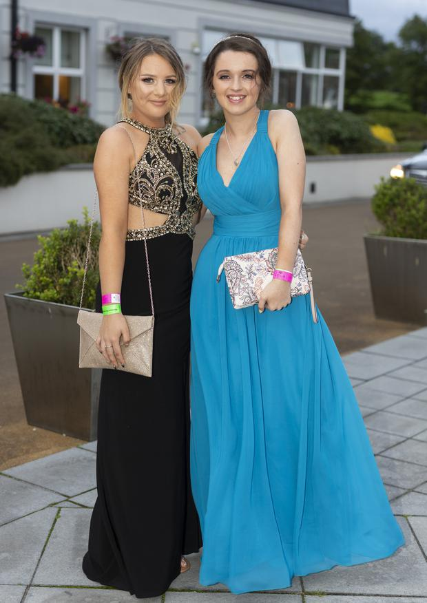 Pictured at the St Mary's College, Ballisodare Grad at the Radisson Hotel, Ballincar were Chloe Lyons and Emma Rooney. Pic: Donal Hackett
