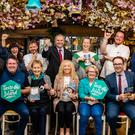 Pictured at the launch of Sligo Food Trail's calendar for Taste The Island were Back: Hans & Gaby Wieland, Chef Marc Gallagher, Niall Tracey (Director of Marketing, Fáilte Ireland), Carolanne Rushe, Chef Joe McGlynn, Neil Byrne. Front: Anthony Gray, Prannie Rhatigan, Cllr. Marie Casserly (Chair Sligo Food Trail), Coeurine Murray, John Neary (Wild Atlantic Way, Fáilte Ireland). Sligo Food Trail officially launched its autumn calendar packed with Taste The Island events at Sligo Oyster Experience last week. .Network members have produced some really creative and attractive food-related events, with the Sligo Food Trail Harvest Feast on Friday 18th October as the showcase event