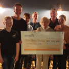Liam, Donal & Ann McDermott, Harry King, Doreen & John McDermott, Michelle McMorrow, Grainne McDermott & Imelda Ryan-Jones with cheque of €3,800 for Sligo Hospital Stroke Unit to purchase a Phoenix Chair. Both Cheques raised by Community of Riverstown following the recent Tommy McDermott Commemorative Cycle, Walk & Table Quiz. €7,430 was also raised for Riverstown Community Park raised to commentate Tommy McDermott and his love of walking in the Village Park